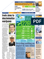 The Ann Arbor Journal front page, May 2, 2013