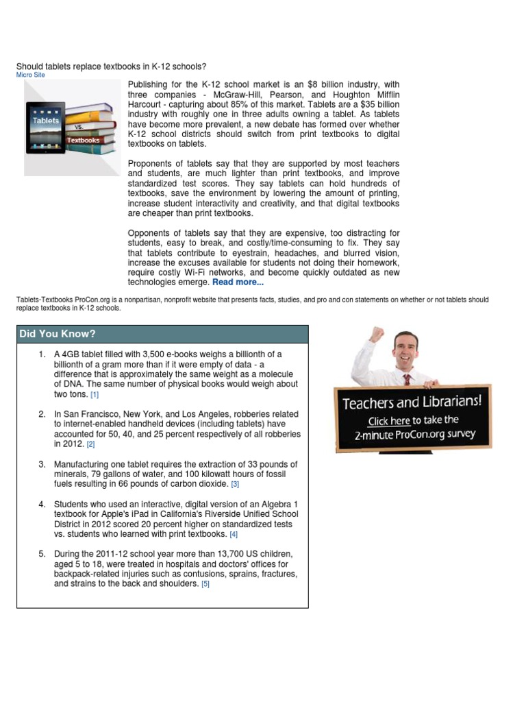 Should tablets replace textbooks in k textbook tablet computer fandeluxe Image collections