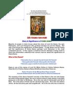 SRI RAMA NAVAMI - GLORY AND SIGNIFICANCE OF RAMA NAMA