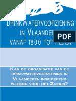 Drinkwatervoorziening in Vlaanderen, Vanaf 1800 Tot Heden