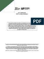 2001 FRQ - Scoring Guide