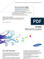 Manual Usuario Samsung Galaxy Ace
