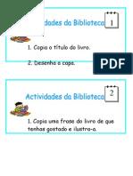 Actividades da biblioteca- 1ºano