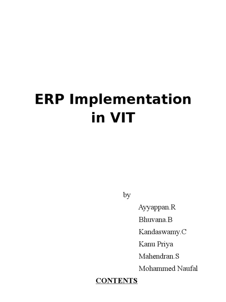 erp implementation case study manufacturing Through the case study of three manufacturing small and medium size enterprises (smes) first motive for erp implementation is the potential for enhancing the erp project risk assessment - a case study.