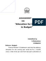 Allocation for Defence in Budget
