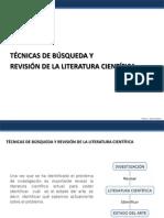 Tecnicas de Busqueda y Revision de La Literatura Cientifica 2012-1