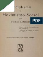 Sombart-Socialismo y Movimiento Social