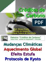 """Palestra """"Creditos de Carbono"""""""