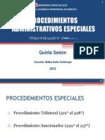 Sesion v - Procedimientos Administrativos Especiales-ucv