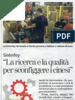La Stampa 30apr Sinterloy (Turin, Italy)