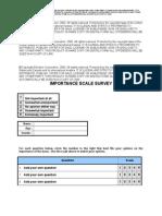 Importance Scale Survey