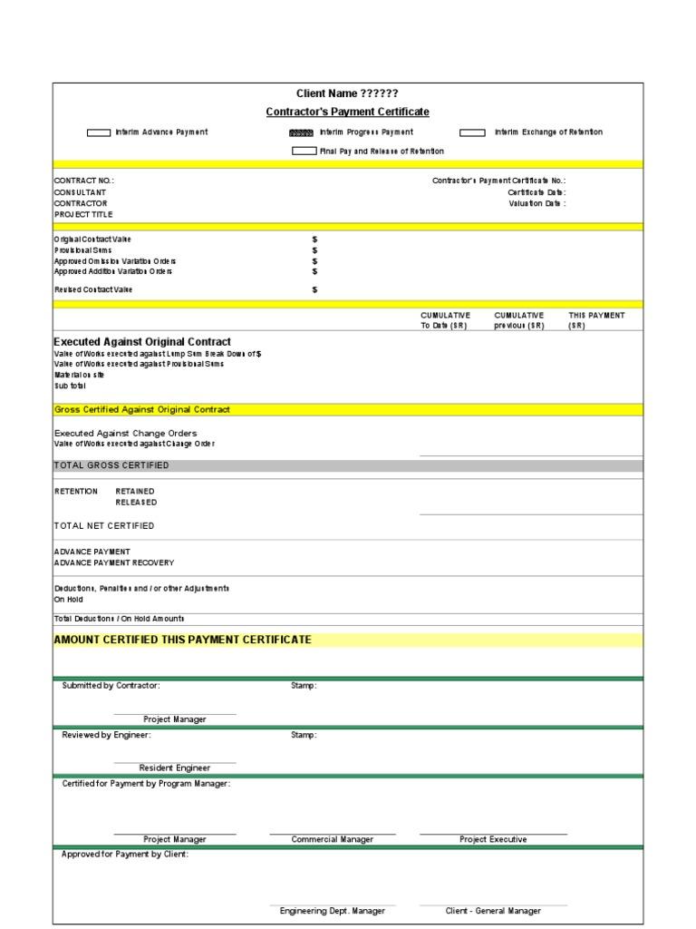 Payment certificatexls 1betcityfo Gallery