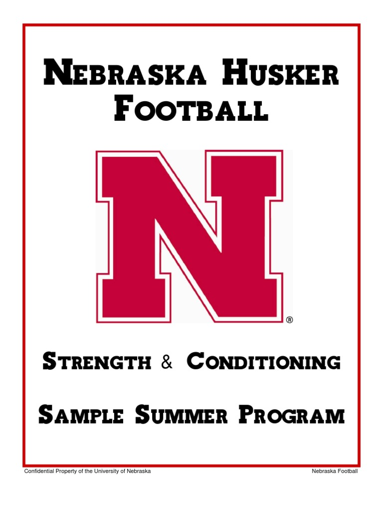 Nebraska - Strength Summer Conditioning | Self Care | Physical Exercise