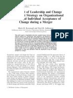 Organizational Cuture & Mergers