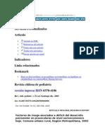 Factores de riesgo asociados a déficit del desarrollo psicomotor en preescolares de nivel socioeconómico
