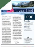Living Life Newsletter Summer 2012