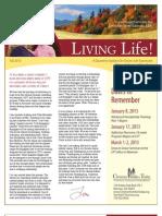 Living Life Newsletter Fall 2012