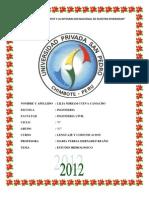 Informe de Estudios Hidrologicos