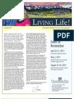 Living Life Newsletter Spring 2013