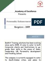 Personality Enhancement Program