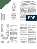 May 1, 2013 Bulletin