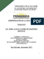 Ensayo de Admisnitración de la Educación