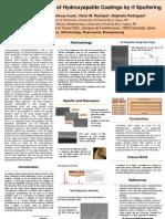 Deposition of Hydroxyapatite Coatings by rf Sputtering (poster)
