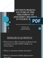 Decision-Making Factors in the Treatment of ADD/ADHD Children in Puerto Rico