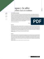 CIESPAL Chasqui La Lengua y Lo Afro