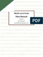 Dino Buzzati - Miedo en La Scala