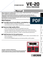 Boss VE20 Owners Manual