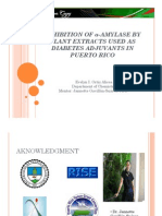 Inhibition of α-amylase by plant extracts used as Diabetes adjuvants in Puerto Rico