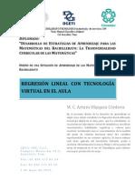 DISEÑO DE UNA SITUACIÓN DE APRENDIZAJE DE REGRESIÓN LINEAL CON TECNOLOGÍA VIRTUAL EN EL ÁULA