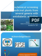 Phytochemical screening of medicinal plants from several genera with antidiabetic activities