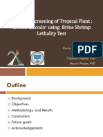 Cytotoxic Screening of Tropical Plant