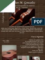 Catalogo Guitarras Esteban Gonzalez - Marzo 2013