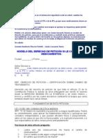 Modelo Derecho Peticion Cambio Medicamentos