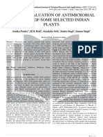 IN VITRO EVALUATION OF ANTIMICROBIAL ACTIVITY OF SOME SELECTED INDIAN PLANTS
