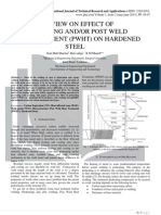 A REVIEW ON EFFECT OFPREHEATING AND/OR POST WELDHEAT TREATMENT (PWHT) ON HARDENEDSTEEL