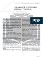 SKILLS AND BEHAVIOR IN EFFECTIVE CLASSROOM TEACHING