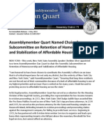 Assemblymember Quart Named Chair of Subcommittee on Retention of Homeownership and Stabilization of Affordable Housing