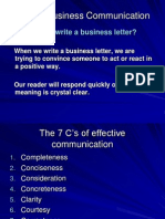 7Cs of Business Communication