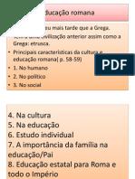 educaçao romana