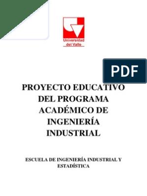 Proyecto Educativo Programa Ingindustrial 1 Ingeniería