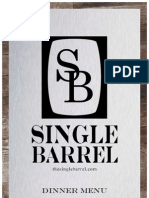 The Single Barrel Spring Dinner Menu