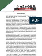 Comité Central - Declaración Pública - Mayo de 2013