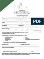 MTM Volunteer Application 2013