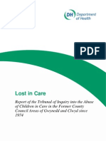 Lost in Care, The Waterhouse Report, Wales Foster Home Abuse Enquiry, 2000.