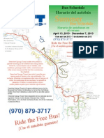 Steamboat Springs summer bus schedule
