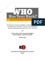 EFF Who Has Your Back 2013 Report